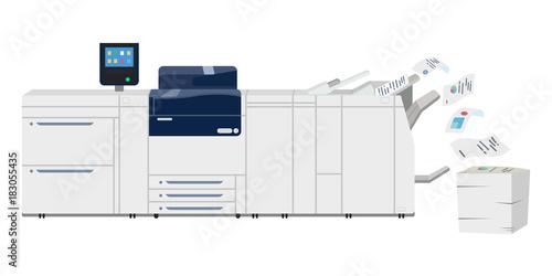 Multifunction copy printer scanner. Xerox machine Fotobehang
