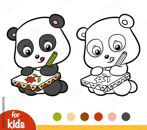 Canvas Prints Baby room Coloring book, Panda
