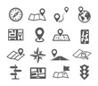 Leinwanddruck Bild - Navigation and Map icons