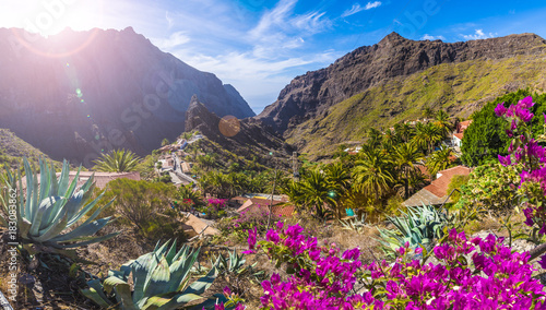 Masca village, the most visited tourist attraction of Tenerife, Spain Fototapeta