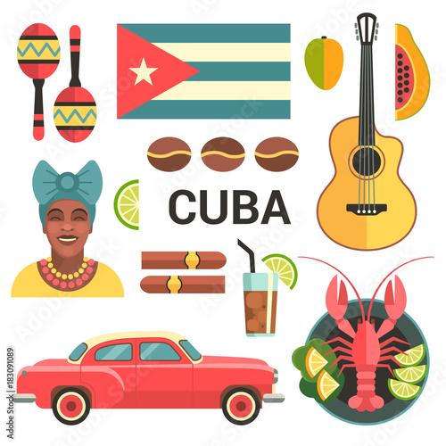 Cuba poster Fototapeta