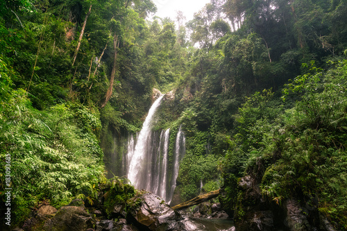 big and magical waterfall in bali. indonesia Poster