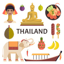 Thailand Icons Collection. Vec...