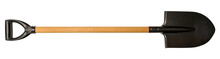 Shovel With Wooden Handle Isol...