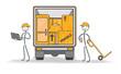 déménagement transport chargement du camion