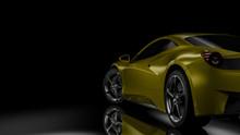 Dark Car Silhouette 3D Illustration
