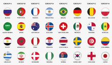 Fußball Icons Mit National-Fl...