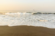 Sunset at Beach with Black Sand in Monterrico, Guatemala. Monterrico is situated on the Pacific coast. Known for its volcanic black sand beaches and annual influx of sea turtles.