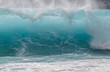canvas print picture - Breaking wave on ocean, Oahu, Hawaii, USA