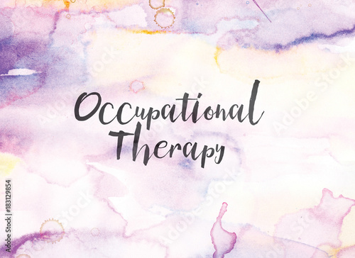 Fotografia Occupational Therapy Concept Watercolor and Ink Painting