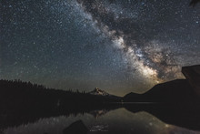 Mt Hood And Milky Way Over Los...