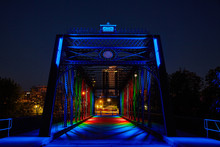 Fort Wayne Bridge Lights Wells Street Bridge