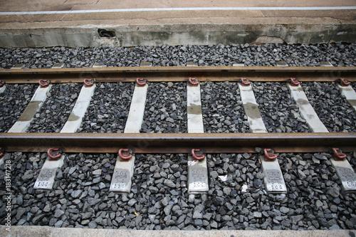 Papiers peints Voies ferrées railroad tracks at Khonkaen, Thailand,.