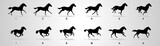 Fototapeta Fototapety z końmi - Horse Run cycle, Animation, Sprites, Sprites sheets, Animation frames, sequence,