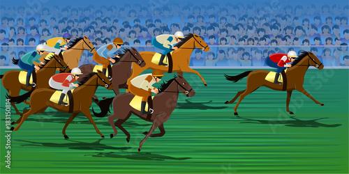Fotografia Horse racing, Racecourse, Jockey