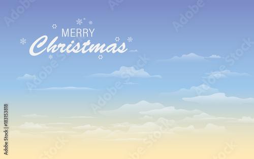 Keuken foto achterwand Turkoois Christmas greeting card text. Merry Christmas lettering illustration.