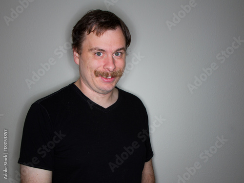 Photo  creepy guy with a mustache