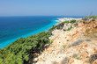 coastal landscape on the way to the Acropolis of Rhodes, Greece
