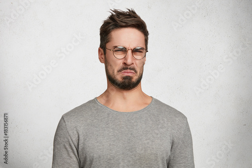 Negative human expressions and attitude Fototapeta