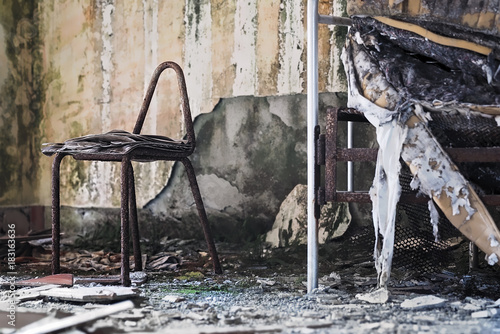 Foto op Aluminium Rudnes Stanza da Ricovero Sanatorio di Bettola