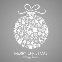 Christmas Card With Ball Made ...