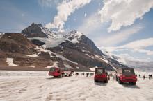 Ice Explorers On Icefield