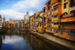 Riverside with colorful houses in Gerona, Spain