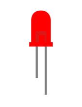 Red Led Icon On White Backgrou...