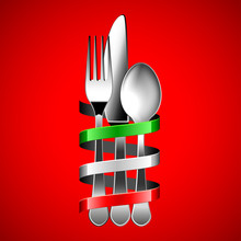 Silver Cutlery And Italian Fla...
