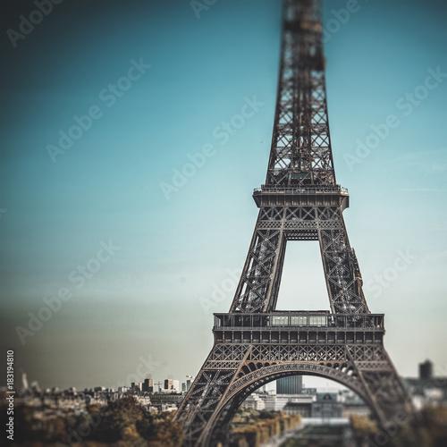 Acrylic Prints Red, black, white Tour Eiffel (Eiffel Tower) in Paris, France