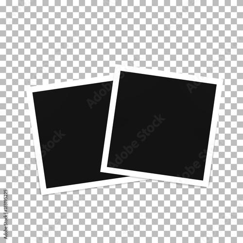 Fototapeta Photo frame template on a transparent background obraz na płótnie