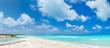 Beautiful Caribbean beach panorama