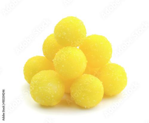 Foto auf AluDibond Süßigkeiten Yellow candy isolated