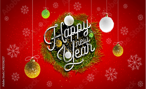 2018 happy new year background for your seasonal flyer and greeting card or christmas themed invitation