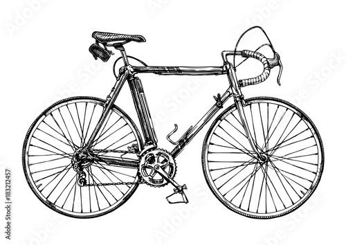 Photo illustration of racing bicycle