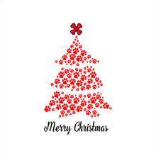 Colorful Paw Print Christmas G...