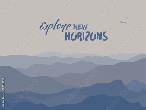 Keuken foto achterwand Turkoois Mountains background