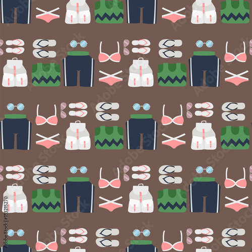 Beachwear bikini cloth fashion looks vacation lifestyle women sea light beauty c Wallpaper Mural