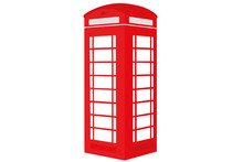 Red Telephone Box Vector