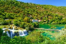 Waterfalls Krka, National Park...