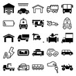 Set of 25 auto filled and outline icons