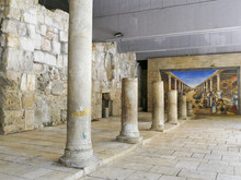 Ancient Roman Cardo Street Jerusalem This Is Part Of The Cardo, Which Was A Main Street In Ancient Jerusalem