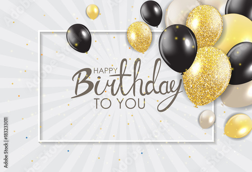 Photo  Abstract Happy Birthday Background Card Template Vector Illustration