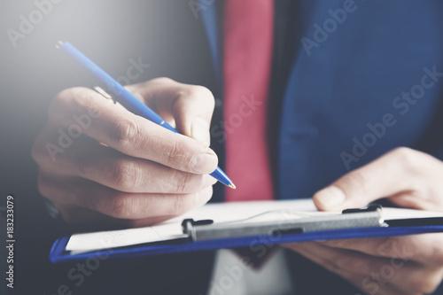 man hand testment document Canvas Print