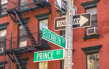 Street Sign Prince And Elizabe...