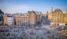 Dam Square In Amsterdam, Netherlands
