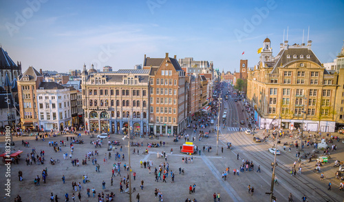Dam Square in Amsterdam, Netherlands