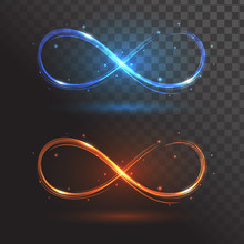 Blue And Orange Signs Infinity...