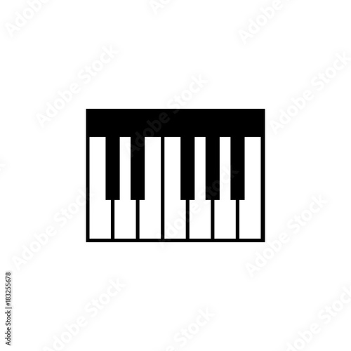 Piano Keyboard Icon Music Sign Simple Icon Music Element Icon