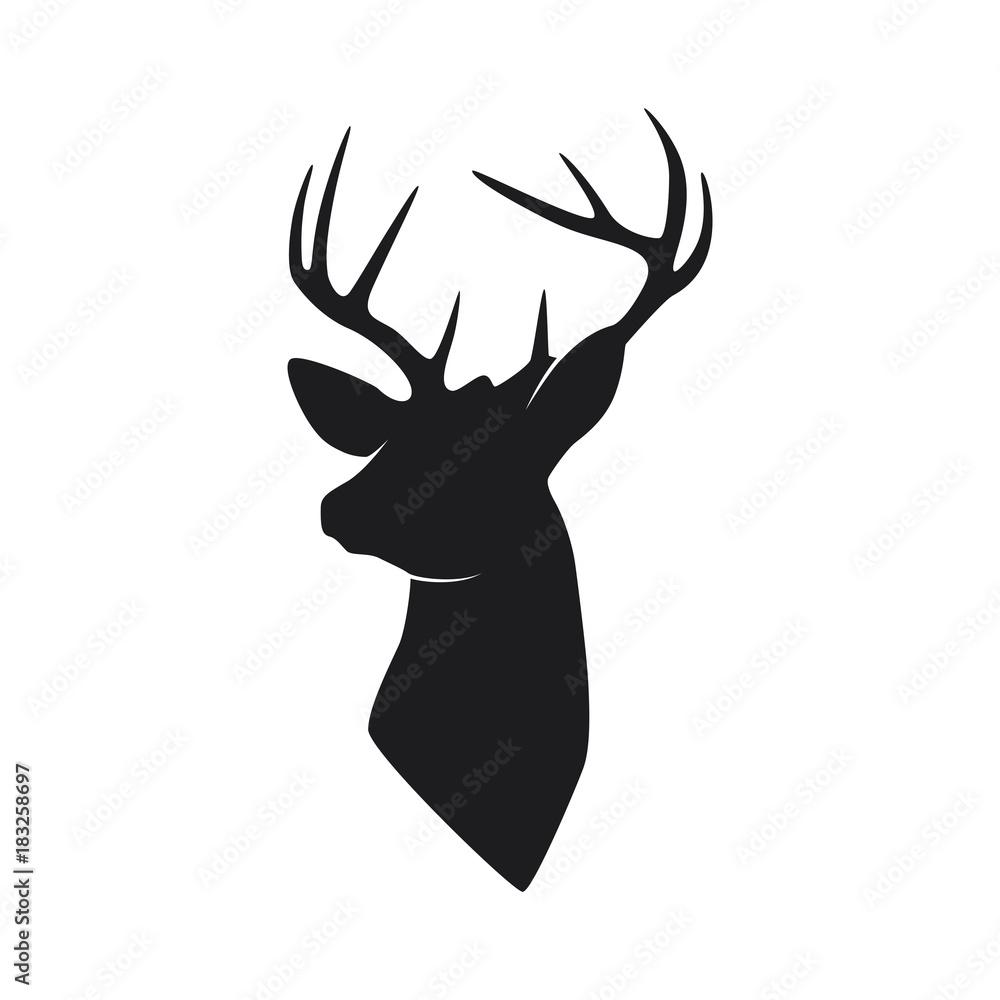 Fototapeta silhouette head deer